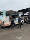Food truck near the welcoming ceremony in Lima, Peru.