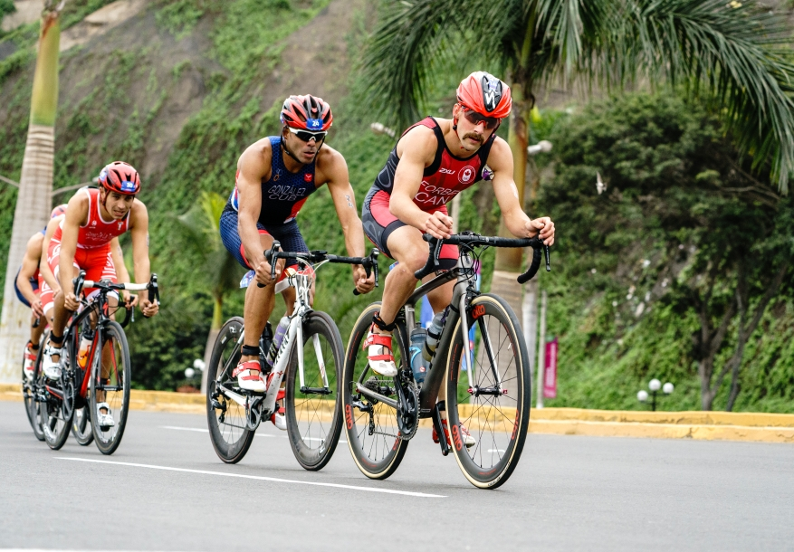 Taylor Forbes leads the cycling