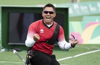 crispin celebrates on the field