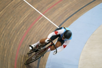 cyclist on the track
