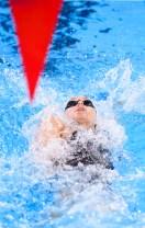 swimmer doing backstroke
