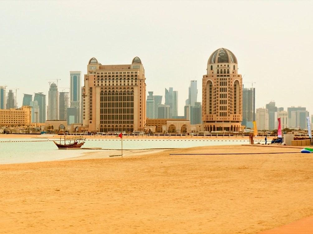 Image of Katara beach in Doha