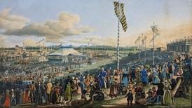 Horse races at Oktoberfest in Munich in 1823 (photo: BR.de)