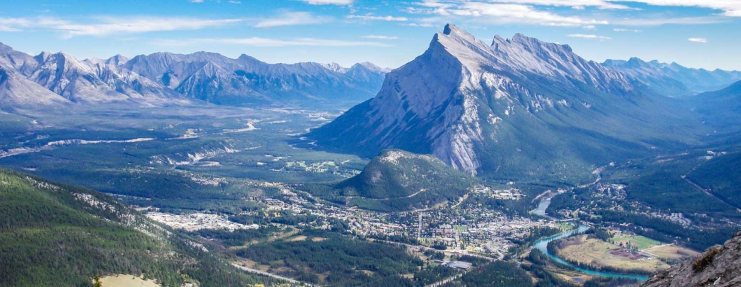 Aerial view of BANFF park.