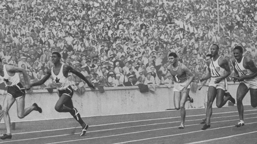 Sam Richardson, left, competing for Canada at Berlin 1936