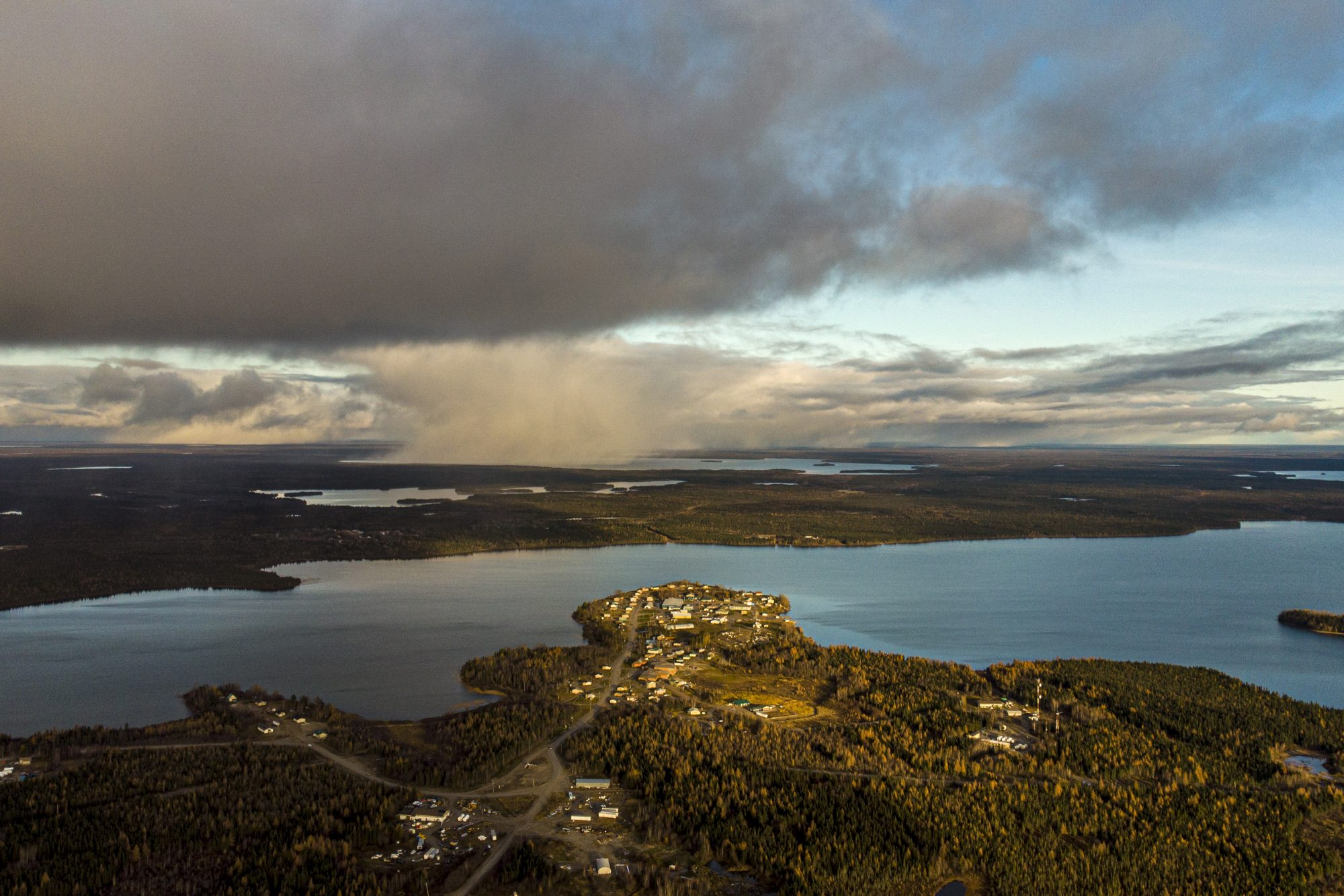 Aerial scenic of Big Trout Lake