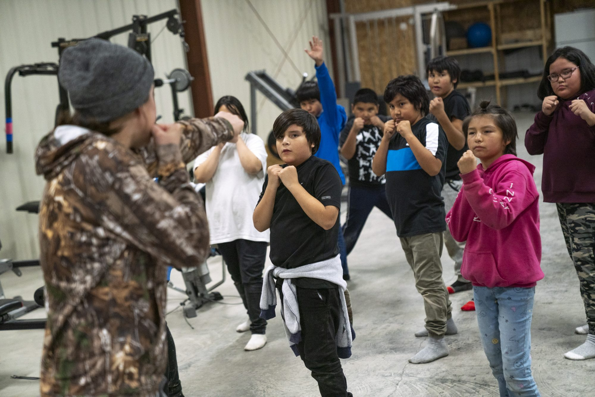 Mary Spencer coaches First Nations youth in boxing