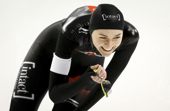Isabelle Weidemann reacting after a race