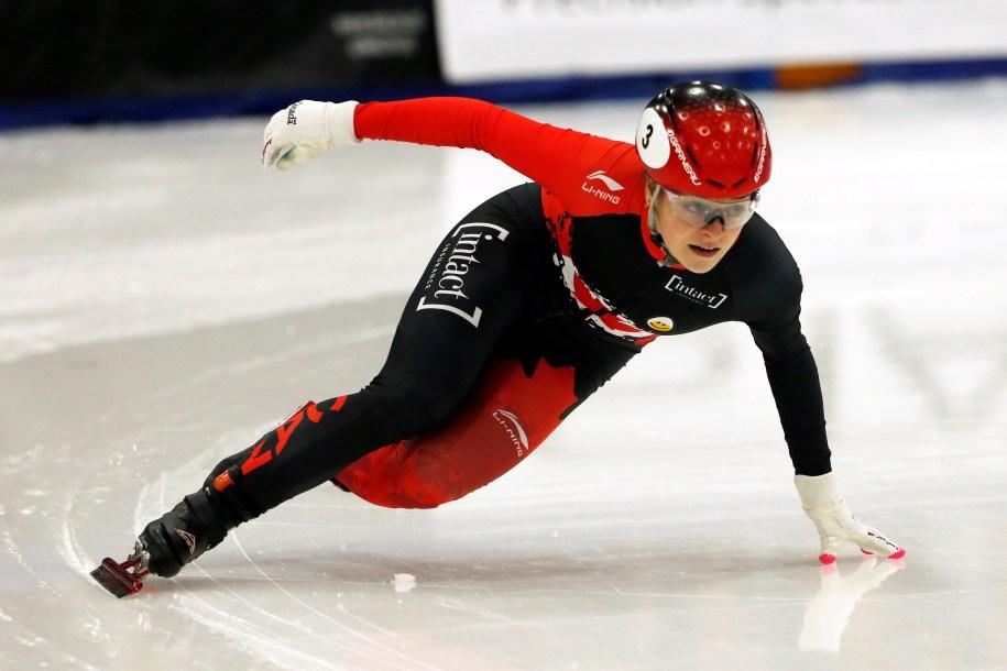 Canada's Kim Boutin skates