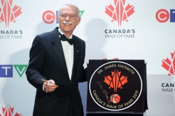 Jim Naismith, the grandson of Dr.James Naismith, the inventor of basketball, pictured with his grandfather's star.