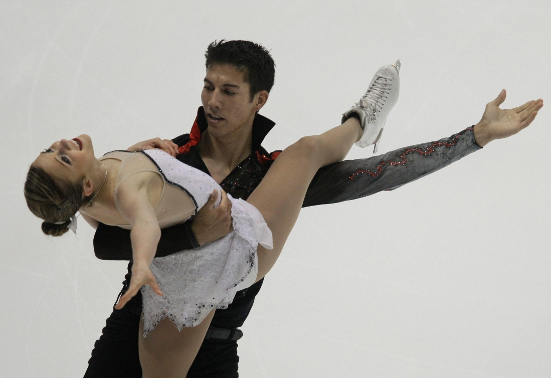 Paige Lawrence and Rudi Swiegers peform at the 2011 ISU Four Continents Figure Skating Championships.