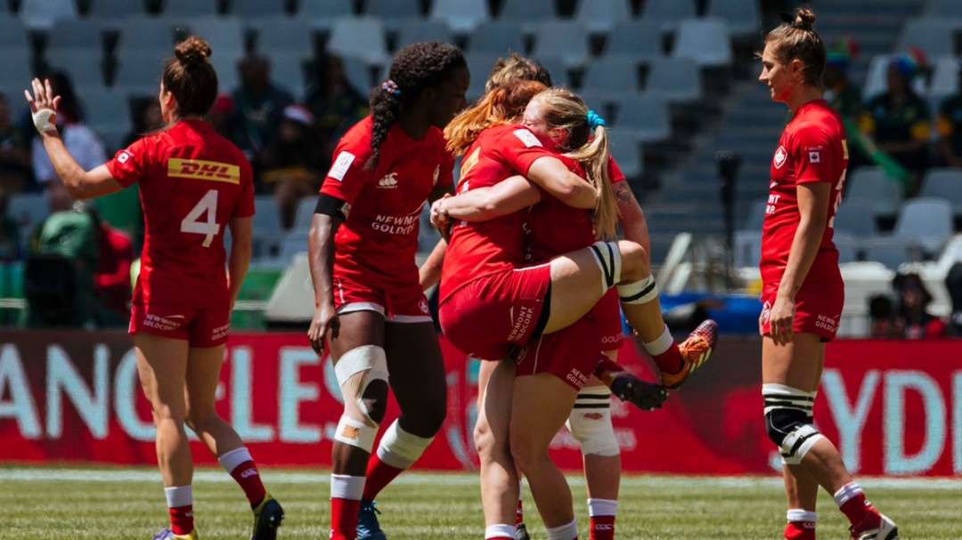 Team Canada wins a hard-fought bronze medal on Sunday at the World Series Rugby Sevens Event in Cape Town, South Africa. Sunday December 15th, 2019.(Photo from Rugby Canada Twitter)