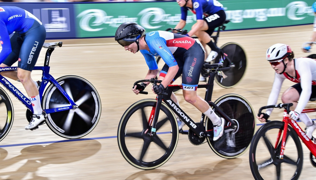 Allison Beveridge competes at UCI Track Cycling World Cup in Brisbane Australia on Sunday December 15, 2019. Photo by: Guy Swarbrick.