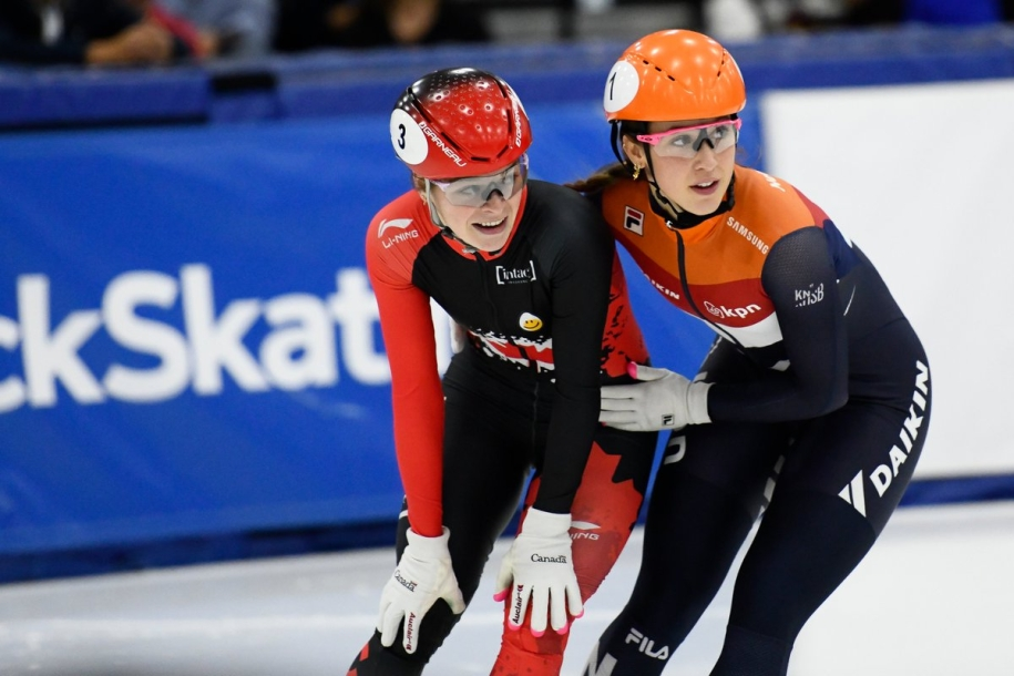 Kim Boutin continued her gold medal streak in the 500m after winning her fourth gold medal in the event this season at the Shanghai World Cup on Saturday December 7th, 2019.