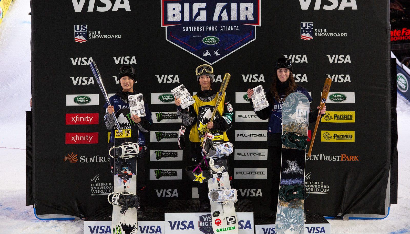 Snowboard Finals 2019 Visa Big Air presented by Land Rover at SunTrust Park, Atlanta. Brooke Voigt won bronze in the women's competition on December 20th, 2019. Photo: U.S. Ski & Snowboard.