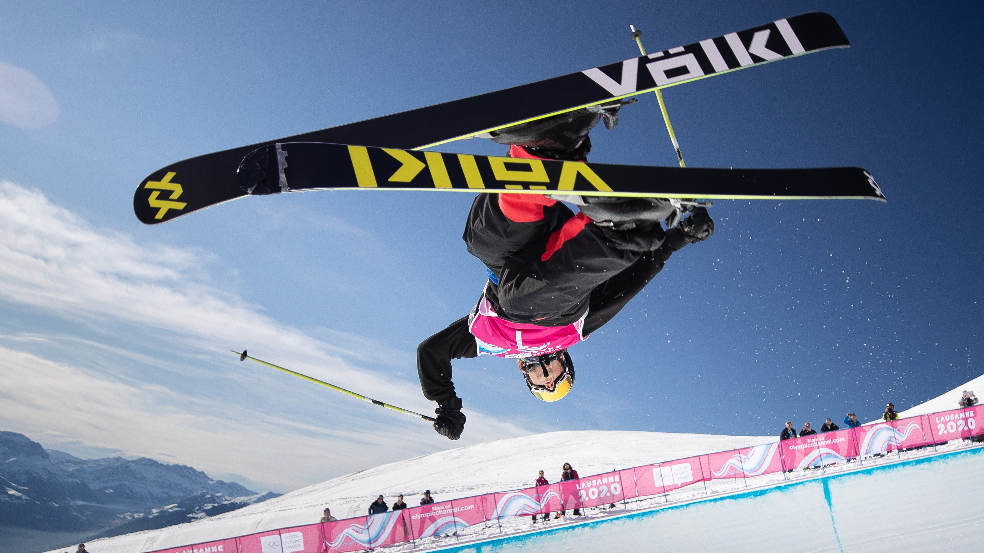 Andrew Longino performs a trick in the halfpipe