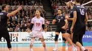 Team Canada defeats Cuba 3-2 at NARCECA Olympic Qualification Tournament. Jan 11, 2019. Photo credit FIVA Volleyball Website.