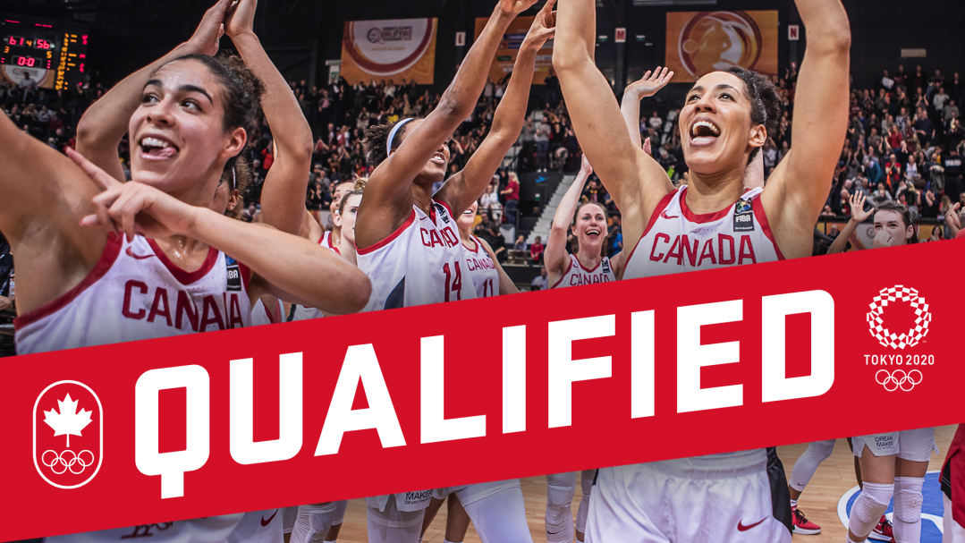 """""""Qualified"""" graphic of the women's basketball team team"""