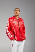 Pierce LePage is facing the camera in Tokyo 2020 Opening ceremony windbreaker jacket