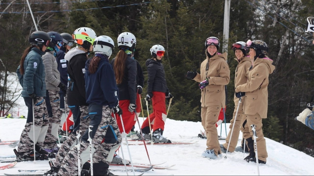 Dufour-Lapointe sisters speak to young skiers