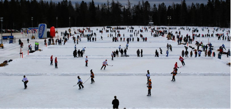An international pond hockey tournament takes place in February on Lake Roulston.