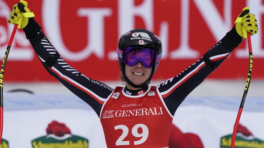 Marie-Michele Gagnon celebrating