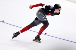Ivanie Blondin of Canada competes during the women's 1500 meters