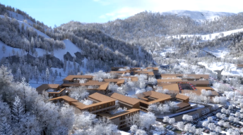 Artist rendering of Yanqing Olympic Village