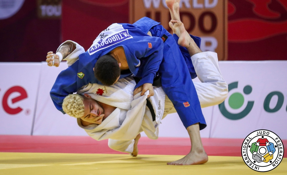 Tbilisi Grand Slam 2021, SEMI-FINAL CAN ELNAHAS vs UZB TUROBOYEV, -100 kg Photo: Mayorova Marina / IJF