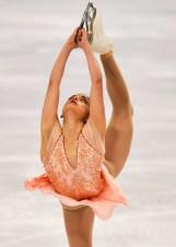 Figure skater performing a Biellmann spin