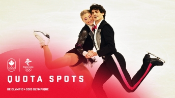 Team Canada quota spots graphic with two figure skaters