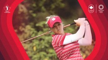 Brooke Henderson golfing
