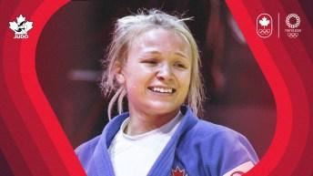 Jessica Klimkait smiles after a win