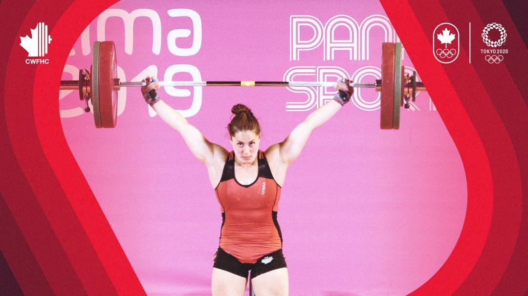 Maude Charron lift barbell above head