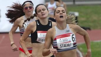 Three women running