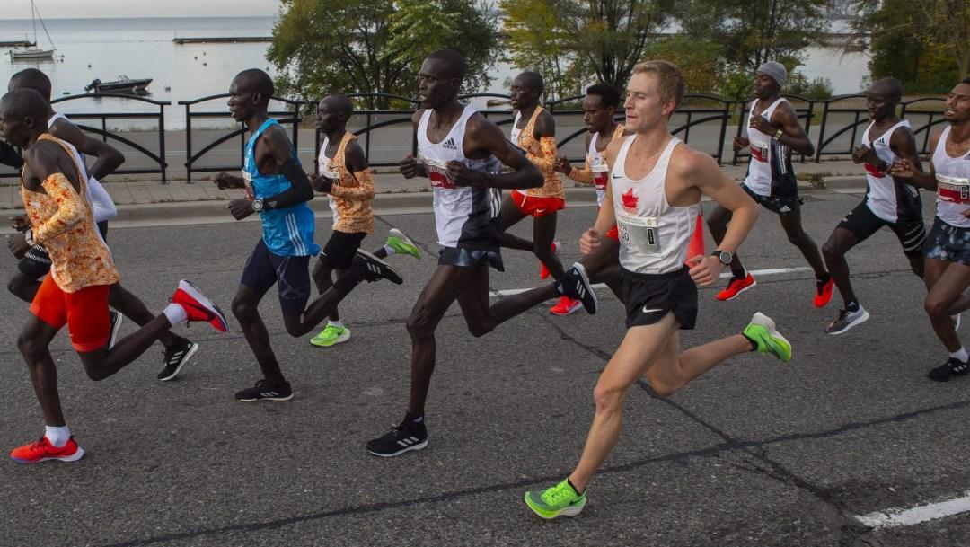 Ben Preisner running in a marathon