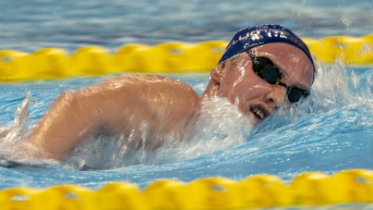 Swimmer doing freestyle