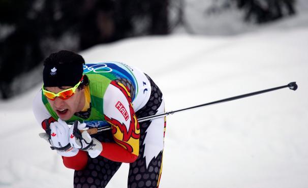 Alex Harvey en descente de ski