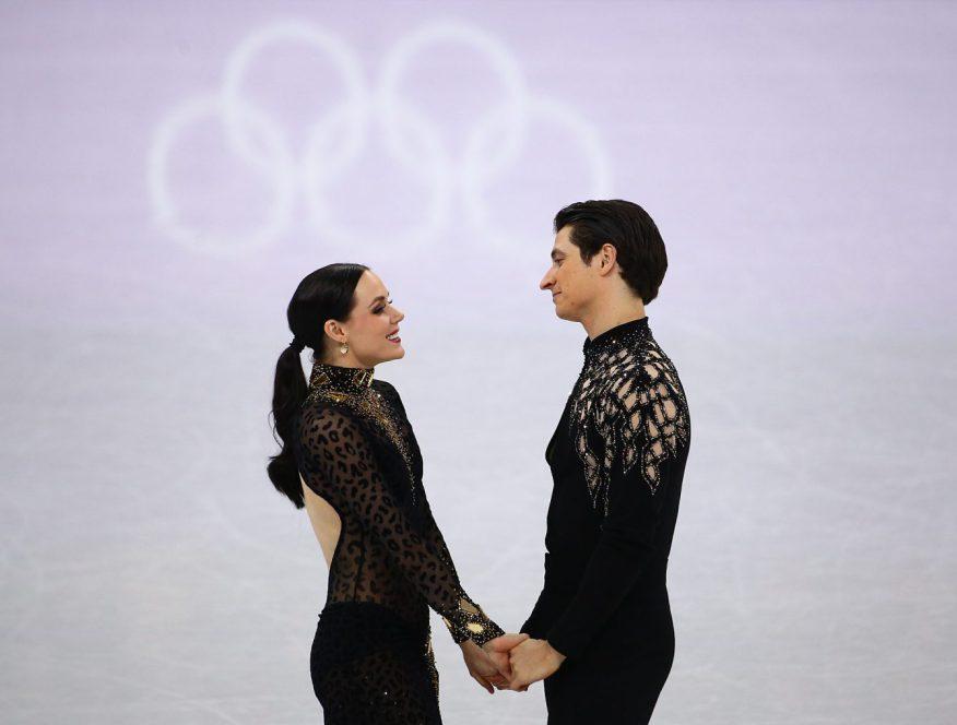 Tessa Virtue et Scott Moir patinent leur programme court de danse sur glace aux Jeux olympiques de PyeongChang, le 19 février 2018. Photo COC/Vaughn Ridley