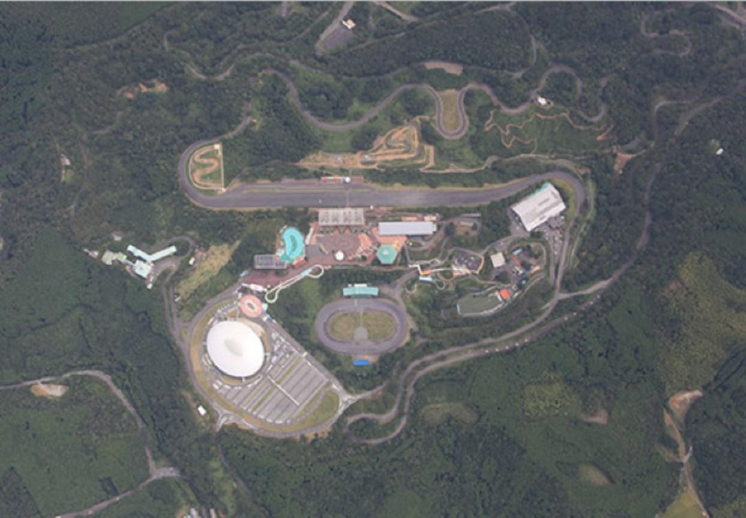 Vue aérienne du Parcours de vélo de montagne d'Izu