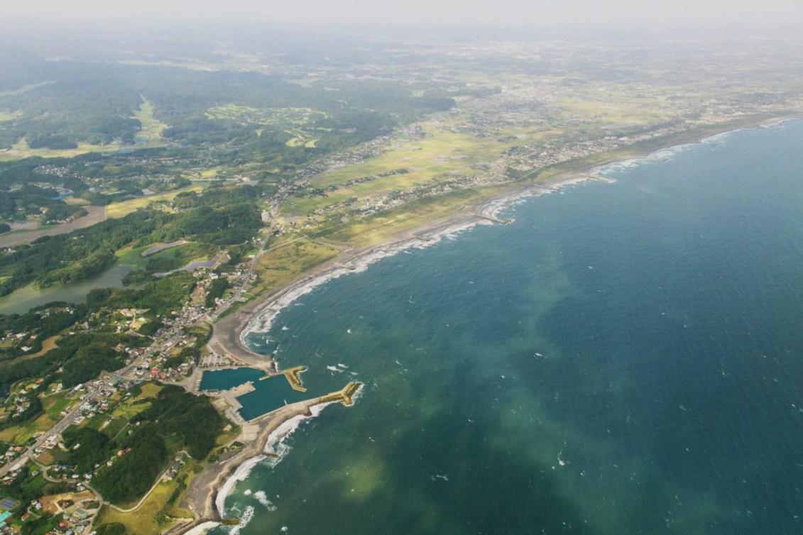 Site de surf de Tsurigasaki Beach (Photo courtoisie de Tokyo 2020)