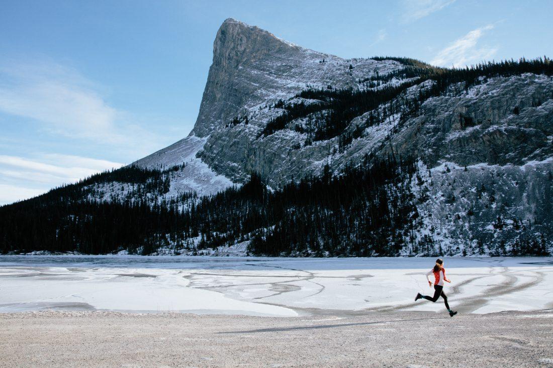 Stephanie Labbé profite d'une sortie de course.(Photo: COC)