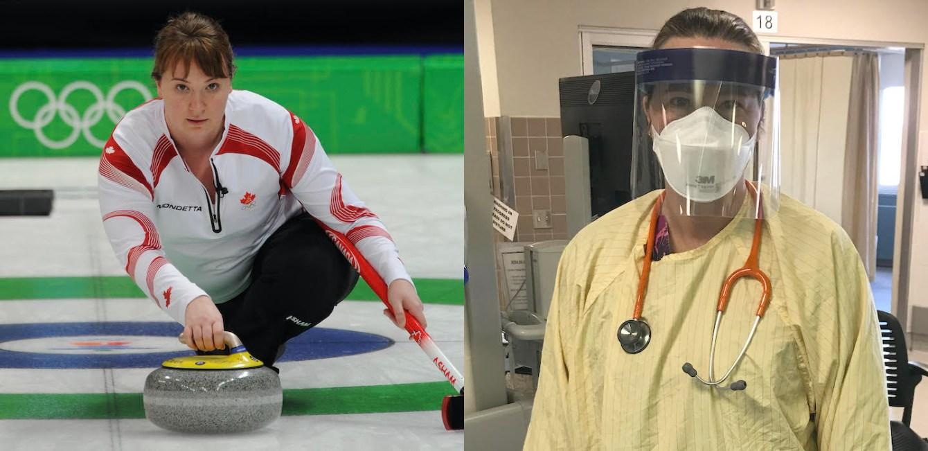 Susan O'Connor en action aux Jeux olympiques de Vancouver 2010 et dans son quotidien à l'hôpital de Calgary